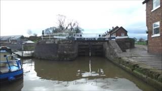 Short drone video of Bunbury Staircase Locks on the Shropshire Unio...