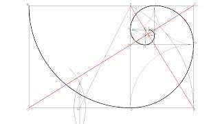Espiral Áurea o de Fibonacci (Rectángulo Áureo)