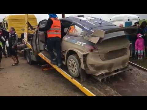 Ott Tänak Crash at 74th Rally Of Poland WRC 2017 SS21 Paprotki Transport