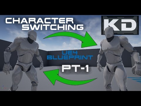 UE4 Blueprint Character Switching - Introduction and Scene Setup (Part 1)