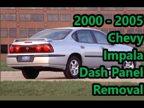 How To Remove Chevy Impala Dash Trim Youtube