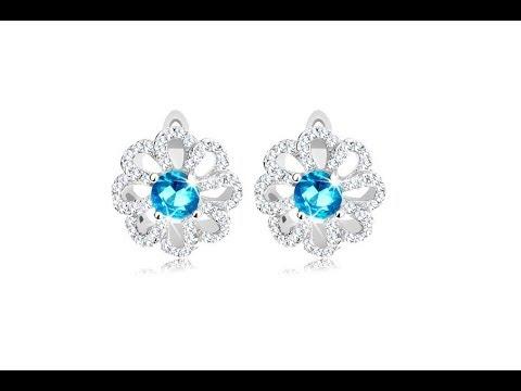 cea mai bună atitudine pret ieftin ridicat Bijuterii – Cercei din argint 925, floare cu contururi de petale ...