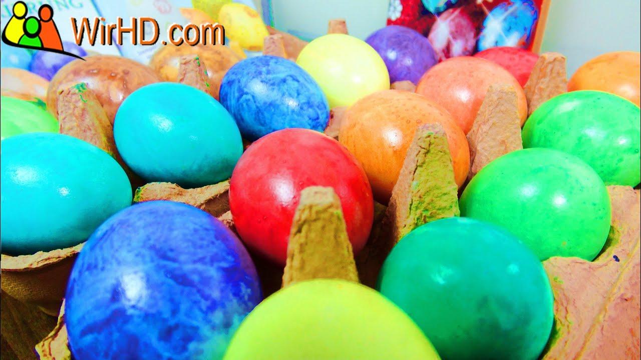 Eier Färben, Marmorierte Ostereier, Coloring Easter Eggs, Basteln zu ...