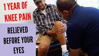 1 Year of Knee Pain Relieved Before Your Eyes (REAL TREATMENT!!!)