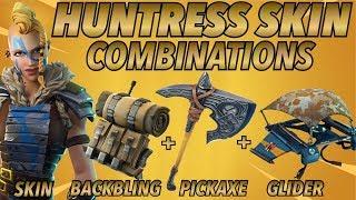 """Huntress"" pele melhor BACKBLING + COMBOS pele! (5 ª temporada de pele) (Battle Royale do Fortnite) (2018)"