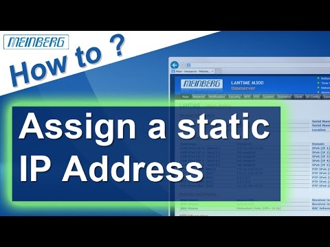 Static ip address assignment