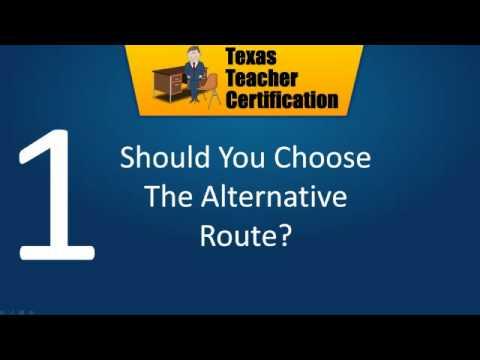 Alternative Teacher Certification Tips - YouTube