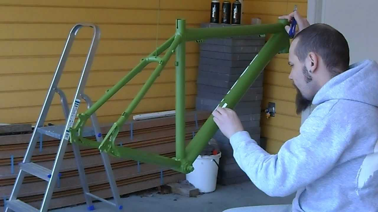 bike frame repaint pt 4 removal of decal templates youtube. Black Bedroom Furniture Sets. Home Design Ideas
