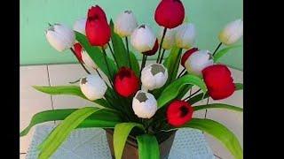 DIY tulipa de E.V.A frisada no estrela show