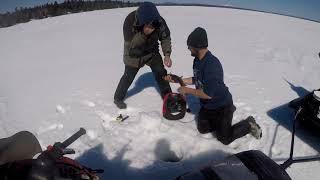 Downeast Fishing Lunatics : End of ice season touge fishing