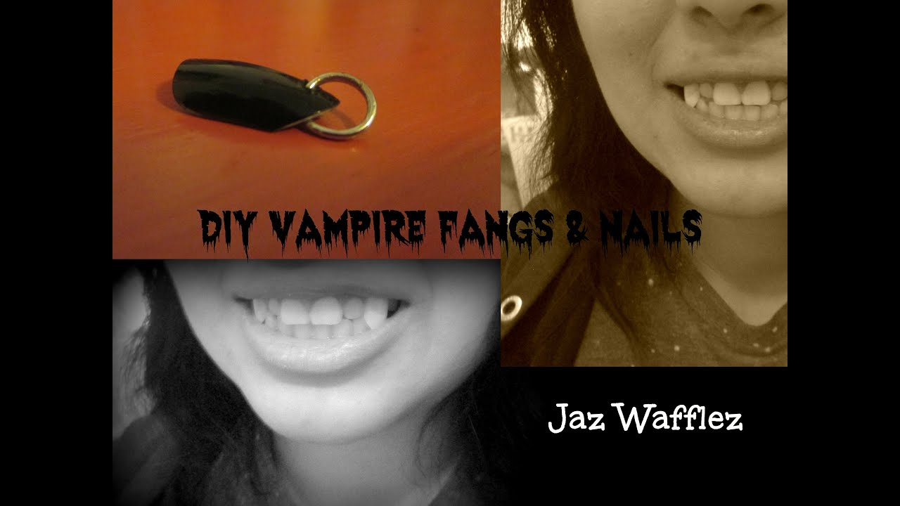 DIY: VAMPIRE FANGS & NAILS - YouTube
