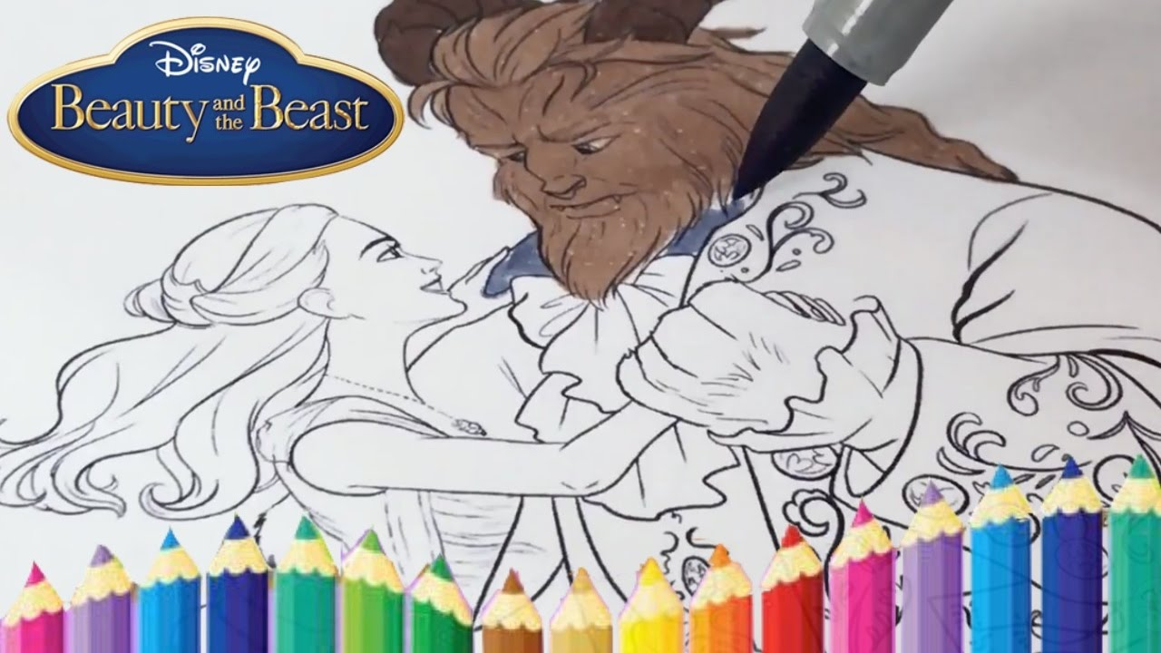 disney beauty and the beast coloring book pages kids fun art and