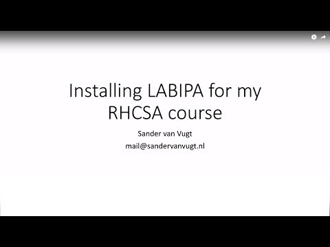 Configuring LABIPA - For RHCSA Students