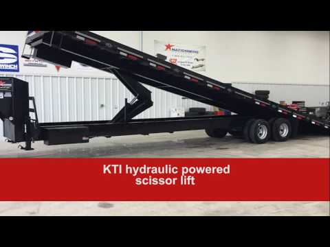 Custom 40-Foot Tilt Container Roll-Off Trailer