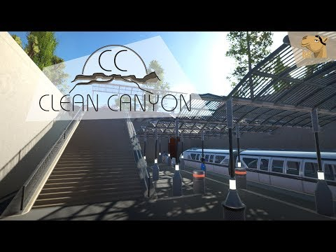 Planet Coaster Lets Play - Clean Canyon (3) - Subway Station