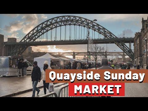   Quayside Sunday Market: Mercado de Rua aqui em Newcastle na Inglaterra  