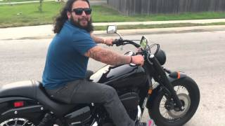 Harley Rider Trying Out My Honda Shadow Phantom