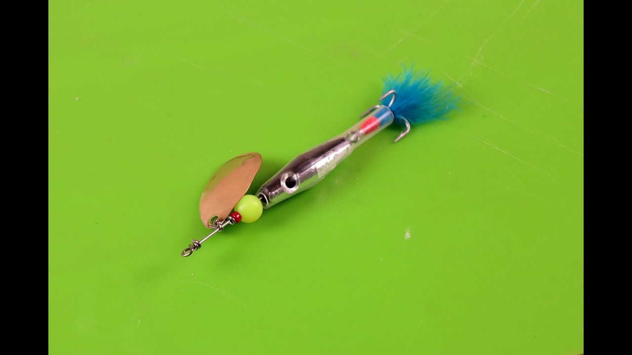 Making a flying minnow fishing lure doovi for Making fishing lures
