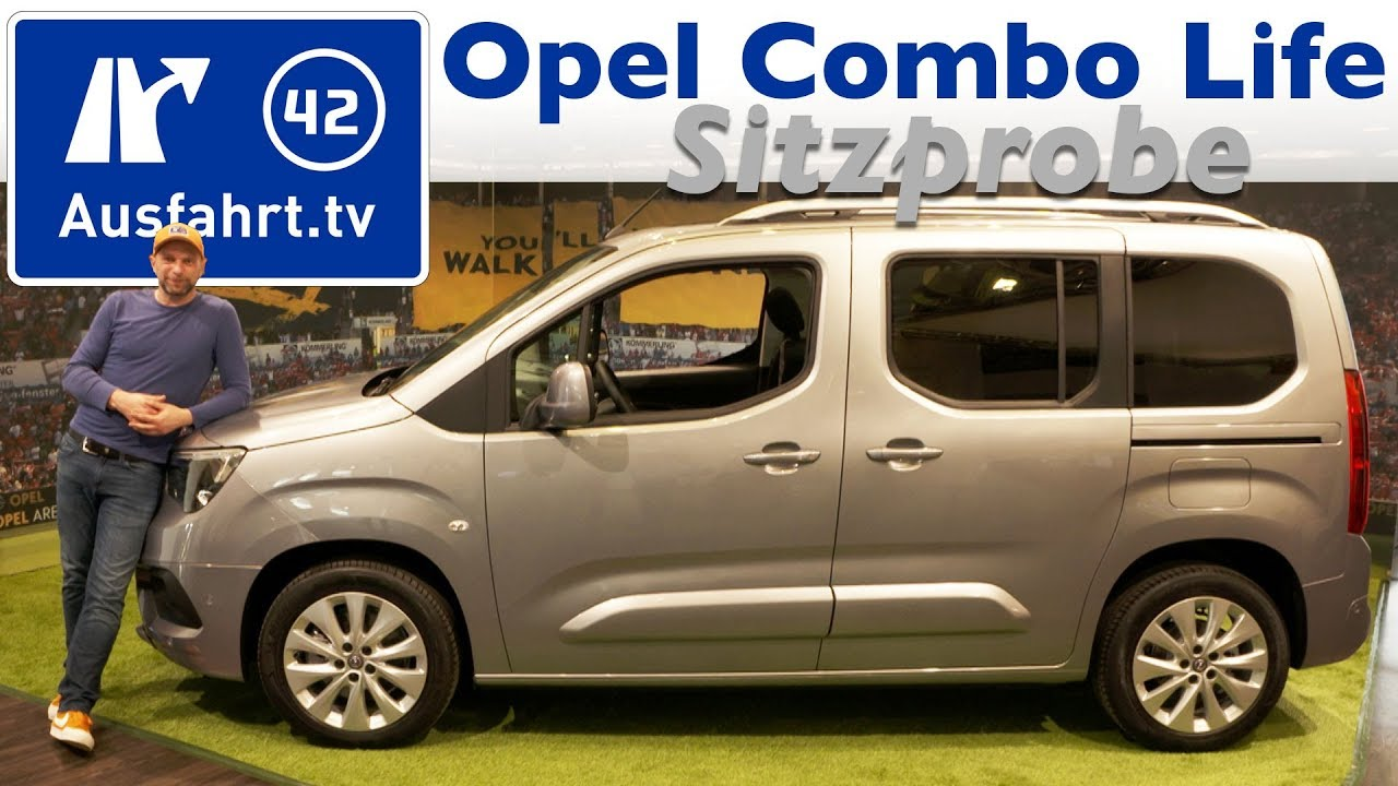 2018 opel combo life sitzprobe erster eindruck. Black Bedroom Furniture Sets. Home Design Ideas