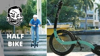 Crazy trike with rear wheel steering! - The Halfbike