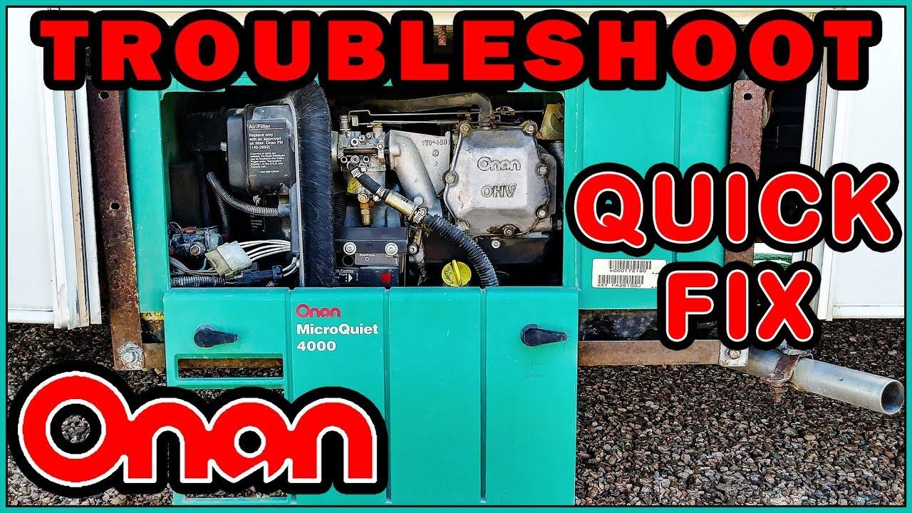 Onan Generator repair, replacing the starter - YouTube