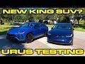 Lamborghini Urus Launch Control VBOX 1/4 Mile Testing - AMAZING 0-60 time!  Can it beat the Model X?