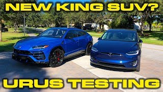Lamborghini Urus Launch Control VBOX 1/4 Mile Testing - AMAZING 0-60 time!  Can it beat the Model X?