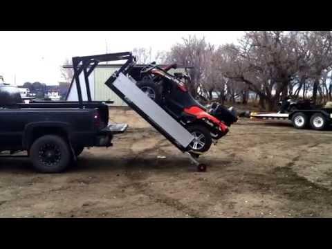TuffLift Hydraulic Sled Deck - YouTube