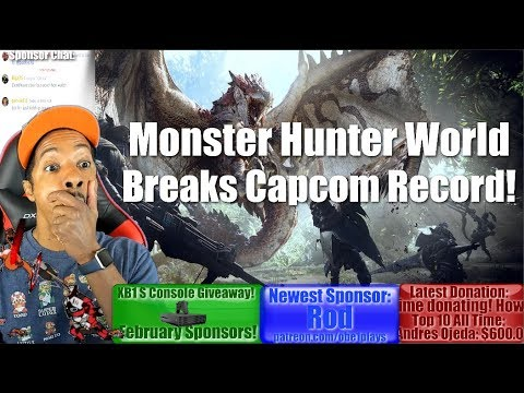 Monster Hunter World Breaks Capcom Record