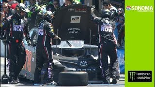 Engine trouble ends Truex's strong Sonoma run thumbnail