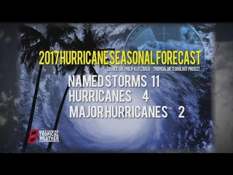 Forecasters release 2017 Atlantic hurricane outlook