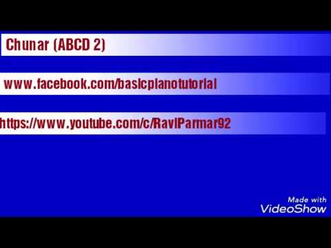 Chunar (ABCD 2) on Perfect Piano tutorial |Ravi Parmar|