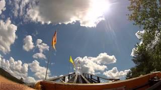Phoenix Pov Hd Knoebels Amusement Resort Roller Coaster Front Seat Gopro On-ride Woodie