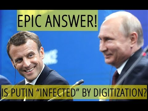 Putin's Joke Makes Macron Laugh: Global Economy Is Pregnant With Digitization, But I'm Fine
