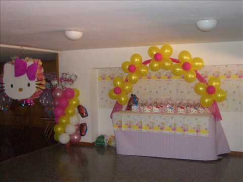 Decoracion con globos jannett youtube - Globos de decoracion ...