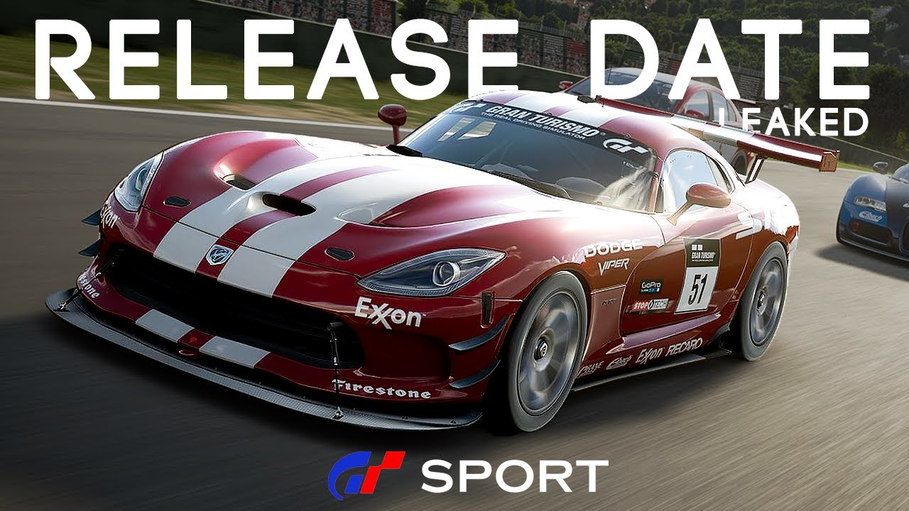 gran turismo sport release date leaked youtube. Black Bedroom Furniture Sets. Home Design Ideas