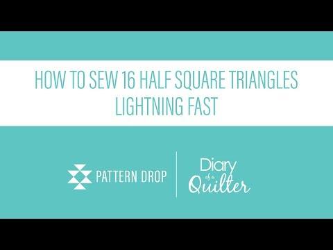Half Square Triangle Demo with Amy Smart