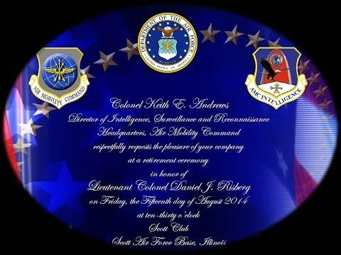 LtCol Daniel Risberg Retirement Ceremony