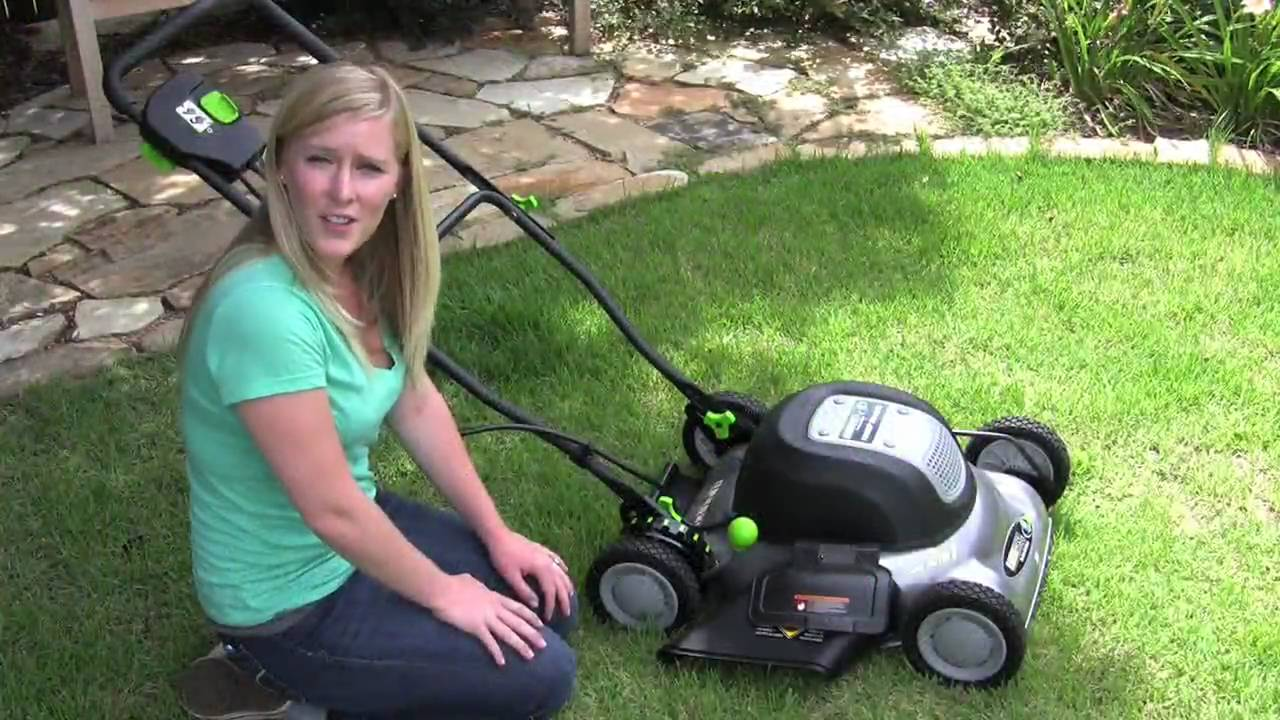 Review Earthwise 18 Inch Corded Electric Mower Youtube