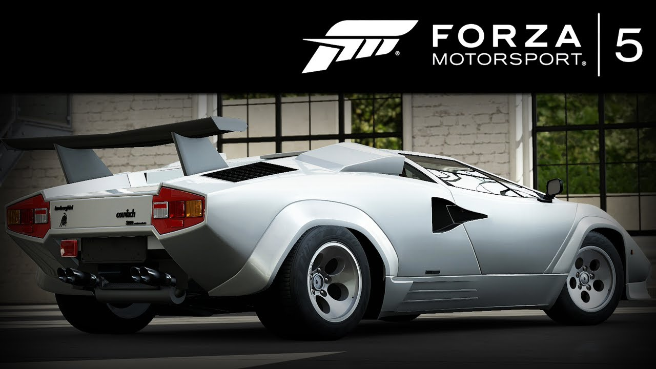 Forza 5 Lamborghini Countach Lp5000 Qv 1988 Forzavista 1 Lap Youtube