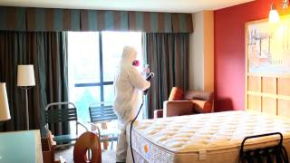 Applying the BactiBarrier cleaning system to a hotel room Thumbnail