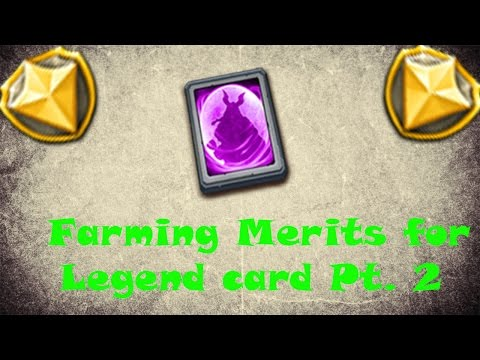 Castle Clash [ Farming Merits For Legend Card 2]