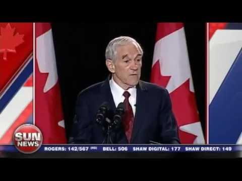 Libertarian Ron Paul speaks in Canada at MNC 2013