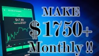 Robinhood APP - EARN $1750+ MONTHLY with HIGH DIVIDEND Stocks!
