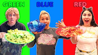 COOKING WITH ONLY 1 COLOR CHALLENGE!