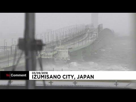 Japan: Typhoon Jebi has just made landfall in Tokushima prefecture