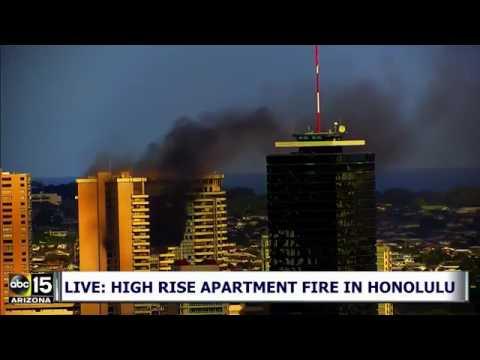 LIVE: High rise apartment fire in Honolulu, Hawaii