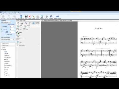 Import Sheet Music from PDF in Power Music