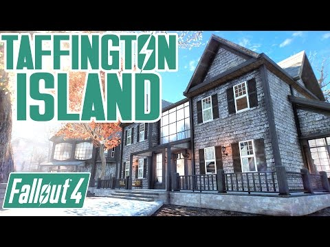 Fallout 4 - Taffington ISLAND - WONDERFUL SETTLEMENT OVERHAUL! - w/ Skylift & Watergate Bridge