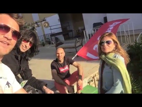 Tom Lowe and Mitchel Delevie Behind the scenes @ Festival Viña Del Mar 2016